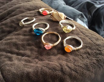 Smaller wire wrap rings size7.5-9