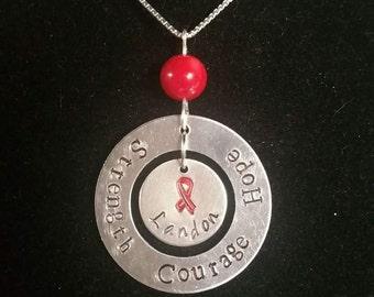 Ribbon/Awareness Necklace