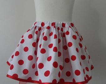 Tutu red polka dot skirt Size 3