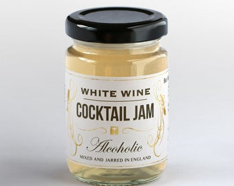 White Wine Jam and Jelly spread, best gift for friend or romantic partner, husband or wife for birthday or anniversary present