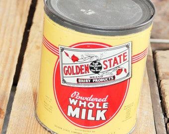 Box advertising Tin Whole milk U.S.A. vintage