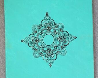 Green Mandala Canvas
