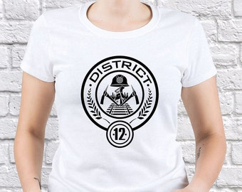 The Hunger Games/ Hunger Games/ District 12/ women tshirt/ Mockingjay shirt/ Mockingjay gift/ Hunger Games shirt/Katniss Everdeen tee/(HG02)