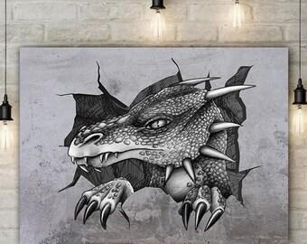 dragon - original art print