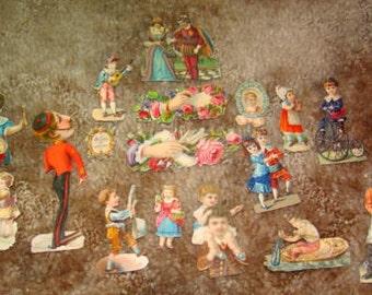 17 Pieces of Victorian Scraps