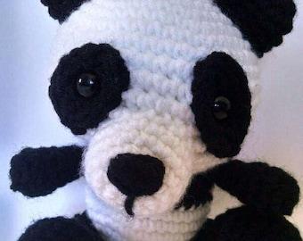 Panda plushie-crocheted