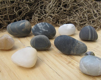 Beach Stone Drawer Knobs  l  Beach Stone Cabinet Knobs