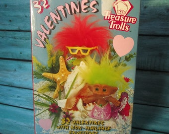 1993 Treasure Trolls Valentines Day Cards