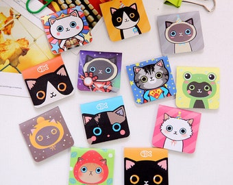 Cute Kawaii Cat Magnetic Bookmarks ~ Magnetic Bookmarks ~ Stationery, Book Lover, Planner, Book Accessories, School supplies, Page Marker
