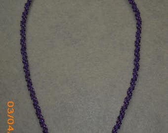 Purple Seed Bead Necklace