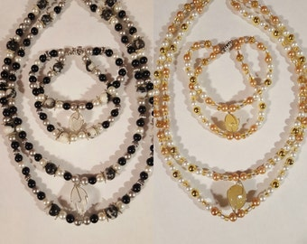 Double Stranded Necklace and Bracelet Sets