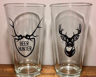 Hunting Beer Glass