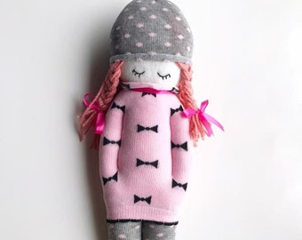 cute handmade pink doll