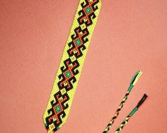 Handwoven bracelet, Bright braided bracelet,Knotted bracelet, String bracelet, Wrist band,Friendship bracelet, Bracelet bresilien,Boho