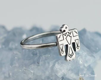 Sterling Silver Thunderbird Ring Solid 925 Native American Custom Size