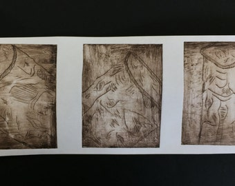 Handmade Drypoint Print of Oil Can