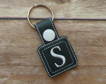 Initial Keychain - Monogram Keychain - Personalized Keyring - Small Gift - Gift for Her - Custom Keychain - Personalized Gift - Key Chain
