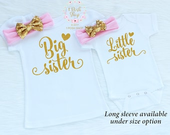 Big Sister Outfit, Big Sister Little Sister Outfits, Matching Sister Outfits, Little Sister Outfit, Big Sister Shirt, Sibling Outfits, FS20