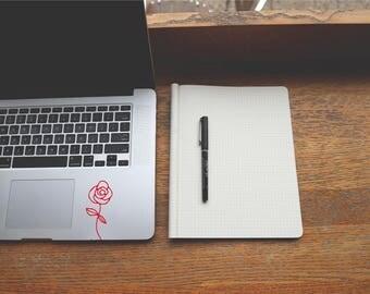 Rose Sticker - Flower - Rose Decal - MacBook Stickers - Car Decal