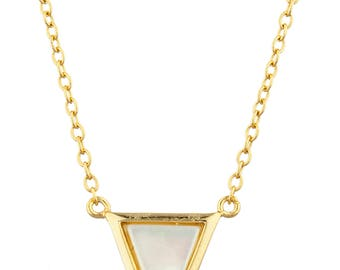 Triangle Pearl Necklace