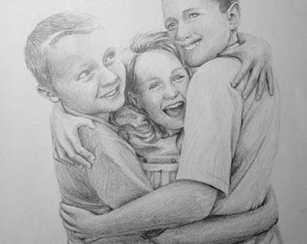 Custom Pencil Portrait Drawing from Photo