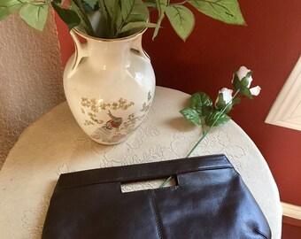 Vintage Dark Brown Evening Bag/Clutch Purse