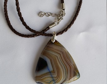 Agate necklace - A02030