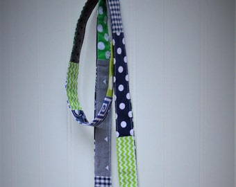Seattle Seahawk's patchwork dog leash