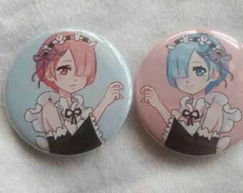Rem & Ram Heart Pin Set