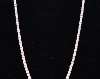 Beautiful Platinum Approximately 15.0 CTTW Granulated Diamond Necklace
