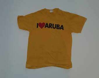 """Vintage Tee--""""ARUBA"""""""