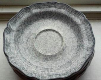 Mikasa Splatter ware plates (4)