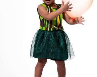 African print children's dress, african print kids dress for girls Achina