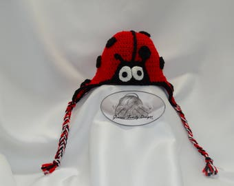 Ladybug hat - toddler