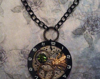 Time Flies Steampunk Necklace
