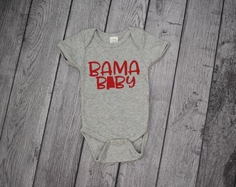 Bama Baby, Alabama Onesie, Alabama Baby gift, Crimson Tide Baby, Roll Tide Onesie, Alabama baby onesie, Bama Onesie, Roll Tide Baby Gift