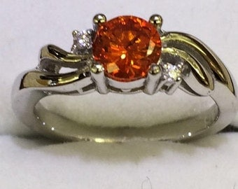 Sterling Silver ring with colored stone