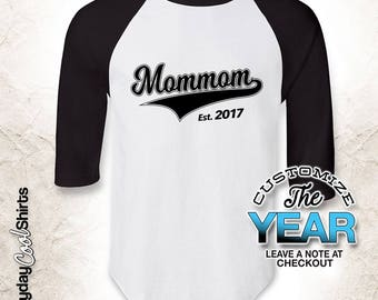 Mommom Since (Any Year), Mommom Gift, Mommom Birthday, Mommom tshirt, Mommom Gift Idea, Baby Shower, Pregnancy