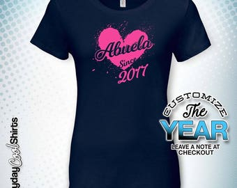 Abuela Since (Any Year), Abuela Gift, Abuela Birthday, Abuela tshirt, Abuela Gift Idea, Baby Shower, Pregnancy