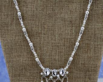 Princess Pearl Gem Necklace