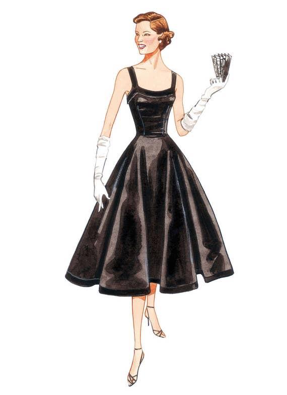 Vogue v2902 Circa 1952  swirl summer dress   retro vintage  pattern sz 18-20-22