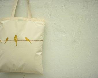Hand Painted Handbag (Birds)- Unique Gifts
