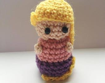 Rapunzel Amigrurumi, princess, Disney Princess, Disney, crocheted