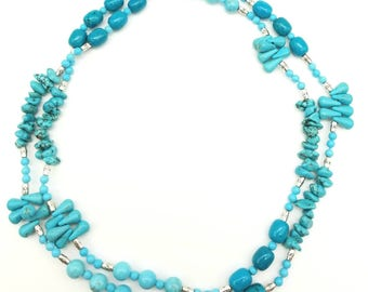 "36"" Magnesite necklace"