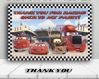 DISNEY CARS Thank You Card,CARS Thank you favor,Printable Thank you notes,Party Supplies Instant Download,Birthday Boy Favors,Cars Gift tags