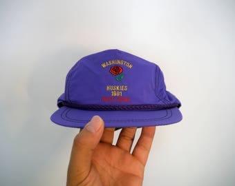 Vintage 1991 Washington Huskies Rose Bowl Nylon Hat