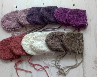Newborn Chunky Bonnet/Alpaca Wool Bonnet/Newborn Photo Prop/Chunky Knit Baby bonnets/Newborn baby hat/Classic Chunky Bonnet/Ready to ship