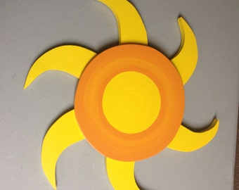 Painted Wooden Sun