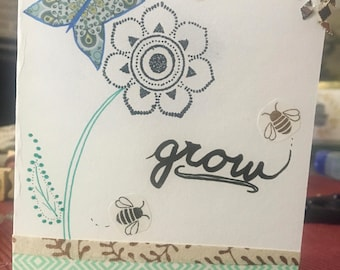 Grow, Blank Greeting Card w/Direct Mail Option