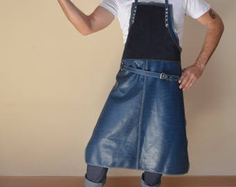 Leather hipster apron